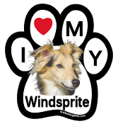 I Love My Windsprite Paw Magnet (long hair) - NEW!