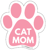 Cat Mom Paw Print Magnet - Pink * NEW!