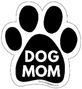 Dog Mom Paw Print Magnet - Black * NEW!