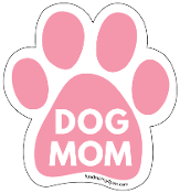 Dog Mom Paw Print Magnet - Pink * NEW!