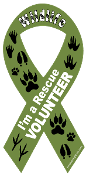 I'm a Wildlife Rescue Volunteer ribbon magnet - NEW!