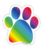 Rainbow Paw Magnet *NEW*