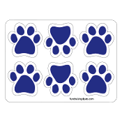Mini Paw Magnets 6pk - Blue *NEW*