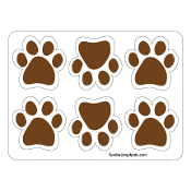 Mini Paw Magnets 6pk - Brown *NEW*