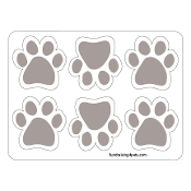 Mini Paw Magnets 6pk - Gray *NEW*
