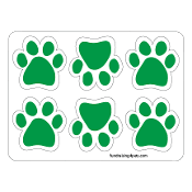 Mini Paw Magnets 6pk - Green *NEW*