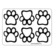 Mini Paw Magnets 6pk - White *NEW*