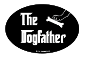 The Dogfather oval magnet *NEW*