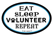 Eat Sleep Volunteer Repeat oval magnet - white/black *NEW*