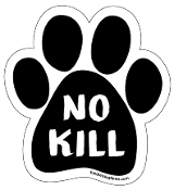 No Kill paw magnet -  caps, black *NEW*