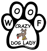 Crazy Dog Lady paw magnet - cartoon dog *NEW*