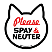 Please Spay & Neuter cat head magnet *NEW*