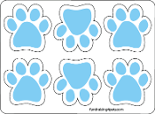 Mini Paw Magnets 6pk - Light Blue *NEW*