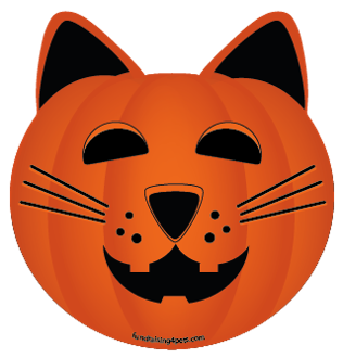 Cat Jack O'Lantern Pumpkin cat head magnet - NEW!