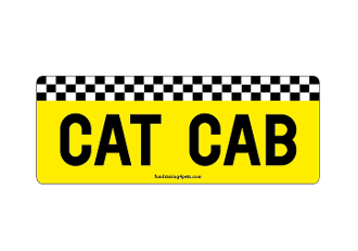 Cat Cab rectangle magnet *NEW*