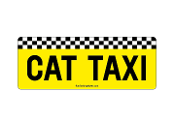 Cat Taxi rectangle magnet *NEW*