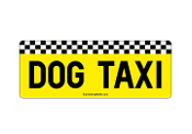 Dog Taxi rectangle magnet *NEW*