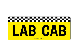 Lab Cab rectangle magnet *NEW*