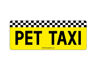 Pet Taxi rectangle magnet *NEW*