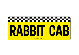 Rabbit Cab rectangle magnet *NEW*