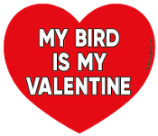 My Bird Is My Valentine heart magnet *NEW*