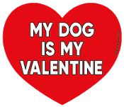 My Dog Is My Valentine heart magnet *NEW*