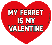 My Ferret Is My Valentine heart magnet *NEW*