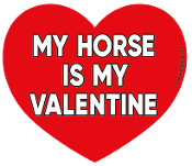 My Horse Is My Valentine heart magnet *NEW*