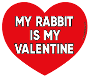My Rabbit Is My Valentine heart magnet *NEW*