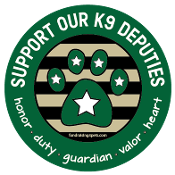 Support Our K9 Deputies circle magnet - green *NEW*