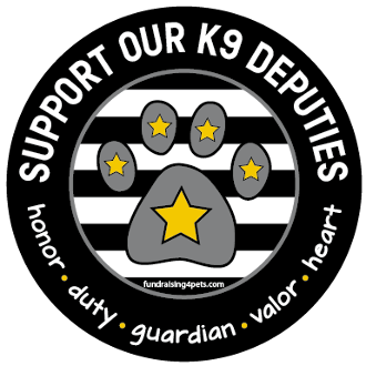 Support Our K9 Deputies circle magnet - black *NEW*