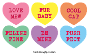 Mini Candy Heart Magnets - 6pk, Cat *NEW*