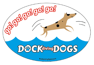 Go Go Go Go Go Dock Diving Dogs oval magnet *NEW*