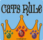 Cats Rule square/rectangle magnet *NEW*