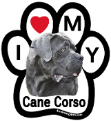 I Love My Cane Corso Paw Magnet (natural, floppy ears) - NEW!