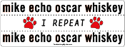 NATO Phonetic Alphabet MEOW: mike echo oscar whiskey - NEW!